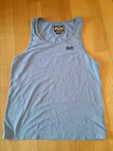 SuperDry Mens Vintage Blue Work Out XL Vest Top Extra Large