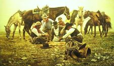 """""""All Work, No Play"""" Don Stivers Signed Limited Edition Western Print"""