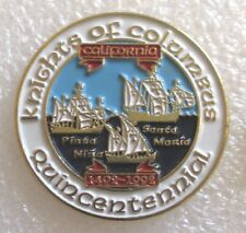Knights of Columbus Quincentennial Souvenir Pin - K of C 1492-1992