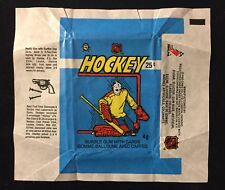 1982-83 OPC NHL HOCKEY WAX PACK WRAPPER - NO TEARS - O-PEE-CHEE CANADA