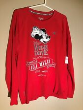 2016 runDisney Wine and Dine Shirt Chef Mickey Long Sleeve Red New with tags