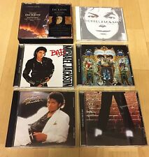 6 Michael Jackson CDs Bad Off The Wall Invincible Dangerous History Thriller