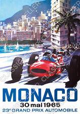 23. Grand Prix Automobile Monaco 1965 Poster Plakat Bild Rennen Ferrari