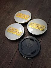 Bbs rs rm rf blanc/or style insignes Centre Caps Emblem 70 mm 7 cm