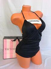 NWT Victoria's Secret Swim One Piece Ruched Sides Flawless Monokini~Black~Sz M
