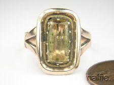 ANTIQUE ENGLISH GEORGIAN PERIOD GOLD FOILED GOLDEN TOPAZ RING c1820