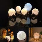 18 / 20CM 3D USB LED Magical Moon Night Light Moonlight Table Desk Moon Lamp