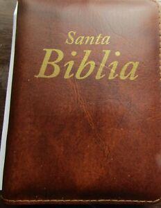 Biblia Reina Valera 60 de bolsillo con funda, concordancia y mapas