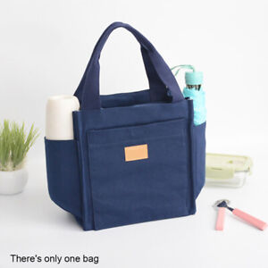 Men Women Multi Pocket Thermal Insulation Office Worker With Handle Lunch Bag