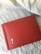 VINTAGE RED PHOTO ALBUM FROM 1946-1951 AMSTERDAM, HOLLAND