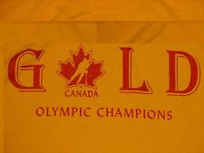 TEAM CANADA OYLMPIC GOLD SHIRT RED IIHF NHL MENS HOCKEY WOMEN CANUCKS CDN LARGE