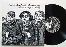 DDAA WHEN A CAP IS RAISING RARE ORIG BNIA AVANT 10 INCH 1988 NURSE WITH WOUND