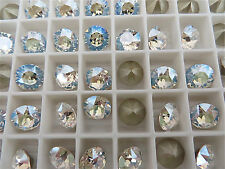 6 Crystal Moonlight Foiled Swarovski Crystal Chaton Stone 1088 39ss 8mm