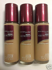 (LOT OF 3 ) Maybelline Instant Age Rewind Foundation SPF18 PURE BEIGE (Medium-2)