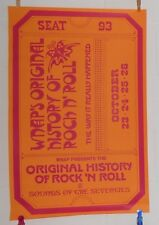 Wnap's Original History of Rock N' Roll Sounds of the Seventies Poster 19x30