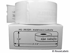 1 Roll of 260 Address Labels in Mini-Cartons for DYMO® LabelWriters® 30320