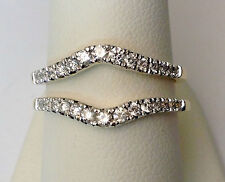 Solitaire Enhancer Diamond Ring Guard Wrap Yellow Gold Wedding Band for Round 14