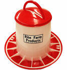 EXTRA LARGE RITE FARM PRODUCTS HD 20 LB CHICKEN FEEDER LID &HANDLE POULTRY CHICK