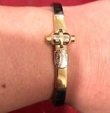 SAURO 18K white and yellow gold 750 men's bracelet bangle Baraka Cartier