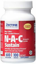 Jarrow Formulas N-A-C Sustain, Supports Liver and Lung Function, 600 mg, 100