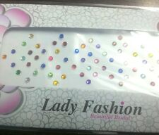 60 Diamond Cut Bindi Tattoo Crystal Color Bellydance Stickers Crafts 2.5 mm Size