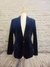J CREW MEN'S  LUDLOW SHAWL-COLLAR BLAZER IN VELVET 34S  #22273 DARK PACIFIC