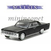 GREENLIGHT 44770 C THE MATRIX 1965 LINCOLN CONTINENTAL 1/64 DIECAST BLACK