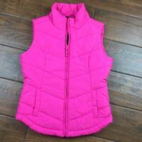 Aeropostale WOMENS SMALL Pink Puffer Vest
