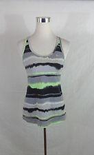 Womens Nike dri-fit sleeveless size M Medium Gray/Green racer back shelf bra