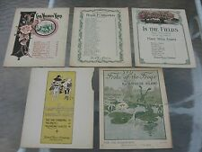 Vintage 1910's Piano Sheet Music Lot (5) - Hatch Music Co
