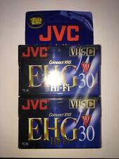 Jvc Tc-30 Compact Vhs-C Camcorder Tape 90 Min. Hi-Fi Ehg 30 2 -2 Packs 4 Tapes