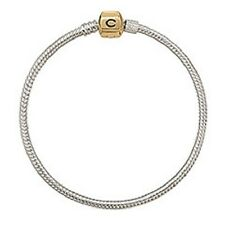 "Chamilia Gold Snap Sterling Silver Bracelet  7.1""  CA-2"