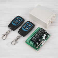 EF14 DC 12V 4CH Channel 100M Wireless Remote Control Relay Switch 2 Transceiver