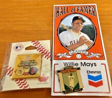 San Francisco GIANTS 2 pins- 2003 Division Series vs Marlins & Willie Mays Pin