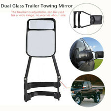 Adjustable Dual Glass Car RV SUV Trailer Mirrors Clip-on Towing Mirror Wide View