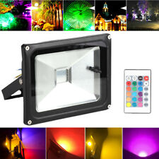 20W RGB LED Flood light Garden Outdoor Pond home Spot Lamp 16Color Changing NEW