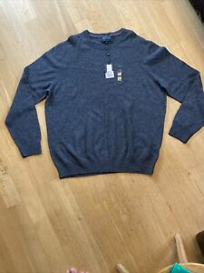 Howick Arlington lambswool mens jumper grey 3XL RRP £40