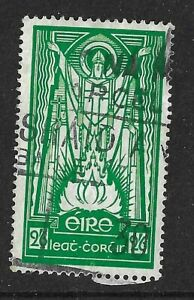 EIRE (IRELAND) 1943 - 2/6d Green - ST. PATRICK - SG123 - Fine used (#4)