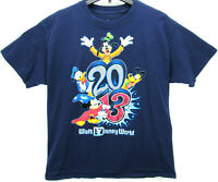 2013 Walt Disney World Men's Size Large T Shirt Mickey Mouse Goofy Donald Duck