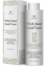Organic Witch Hazel Facial Toner Alcohol Free With Aloe Vera, Rose Water, Green