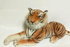 "Large Orange White Tiger Animal Plush Stuffed Doll For Children = 43"" Long"