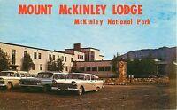 Mount McKinley Lodge Mt McKinley National Park Alaska - 1950's Old Cars Postcard