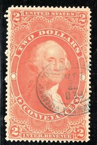USA Revenue Stamp CONVEYANCE $2 1876 Used {samwells-covers}Y2WHITE5