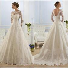 Langarm Brautkleid Hochzeitskleid Kleid Braut Babycat collection weiß BC629W 38