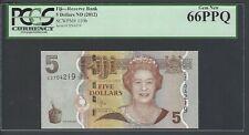 Fiji 5 Dollars ND (2012)  P 110b  Uncirculated Grade 66