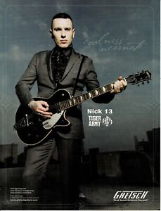 GRETSCH GUITARS - NICK 13 of TIGER ARMY - 2010 Print Advertisement