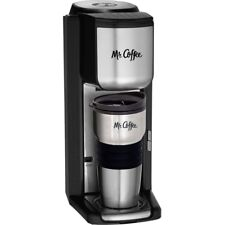 Mr. Coffee Single Cup Coffeemaker with Built-in Grinder, with Travel Mug