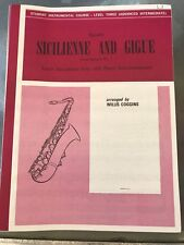 Sicilienne and Gigue for Tenor Saxophone by Handel