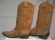 Zodiac International VINTAGE Cowboy Boots WOMENS Size 8 SUEDE Snake Skin NEW OS