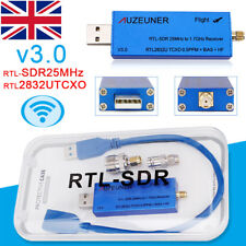 Low Noise 25MHz-1.76GHz Full Band HF RTL-SDR USB Tuner Receiver/R820T+8232 AM FM